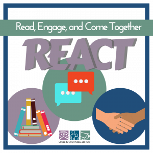 REACT Grant logo: Read, Engage, and Come Together