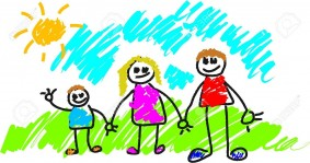 kids drawing of family